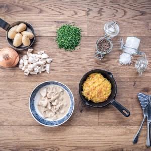Züri Gschnätzlets - sliced veal, hash brown potatoes